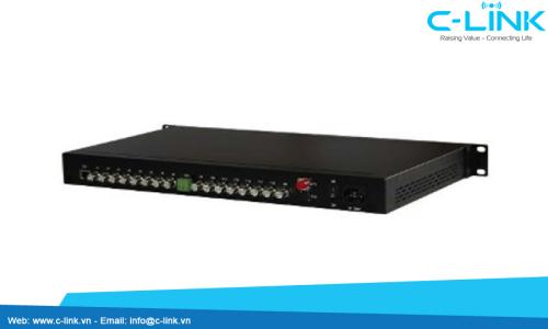 Bộ Thu Phát 16 Kênh Video Sang Quang ZHT (VDO-16000 Serial) C-LINK Phân Phối