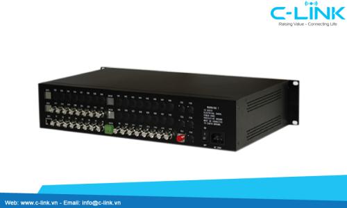 Bộ Thu Phát 24 Kênh Video Sang Quang ZHT (VDO-24000 Serial) C-LINK Phân Phối
