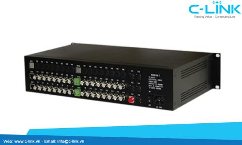 Bộ Thu Phát 32 Kênh Video Sang Quang ZHT (VDO-32000 Serial) C-LINK Phân Phối