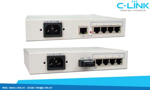 Ethernet Over 4 E1 Converter ZHT (PC-04100/ F04100) C-LINK Phân Phối
