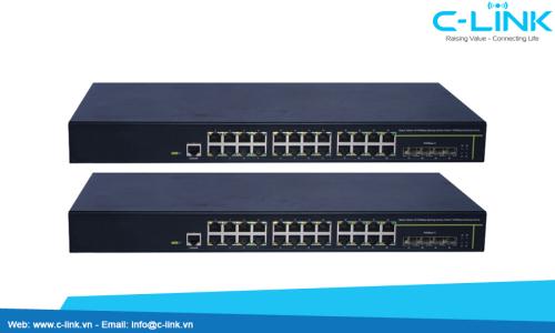 Switch 8 Cổng /24 Cổng /48 Cổng Giga+2 Giga/2 Compo DCN (DCS-4500 Serial) C-LINK Phân Phối