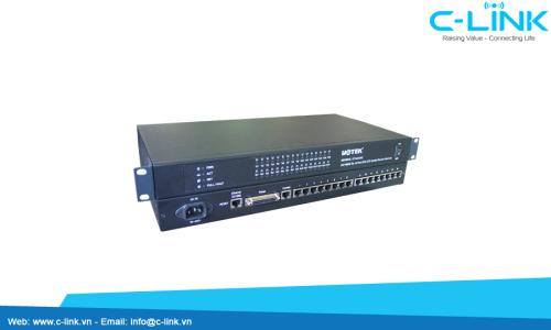 Bộ Chuyển Đổi 16 Cổng RS232/485/422 Sang Ethernet TCP/IP UTEK (UT-6616) C-LINK Phân Phối