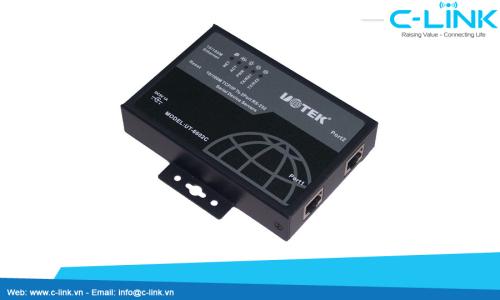 Bộ Chuyển Đổi 2 Cổng RS232/485/422 Sang Ethernet TCP/IP (server, DTE server) UTEK (UT-6602C) C-LINK Phân Phối
