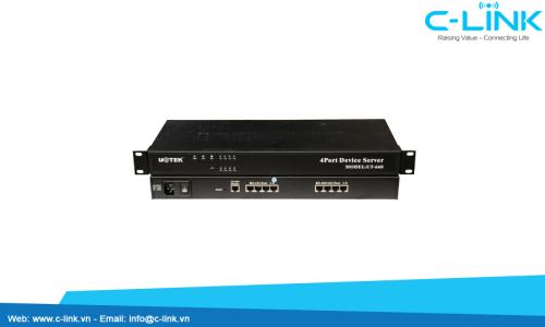 Bộ Chuyển Đổi 4 Cổng RS232/485/422 Sang Ethernet UTEK (UT-660) C-LINK Phân Phối