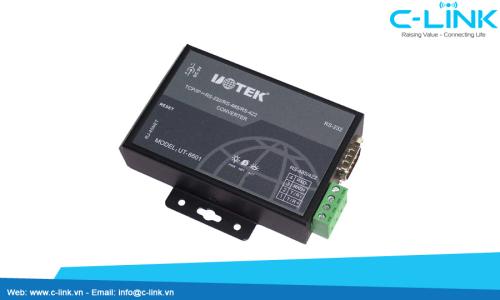 Bộ Chuyển Đổi RS232/485/422 Sang Ethernet TCP/IP UTEK (UT-6601H) C-LINK Phân Phối