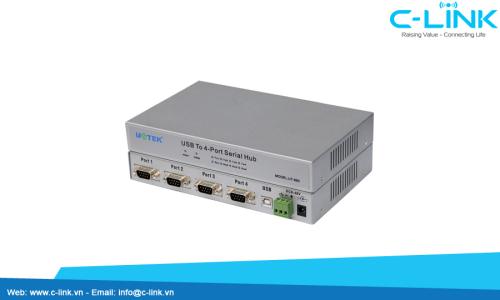 Bộ Chuyển Đổi USB Ra 4 Cổng RS232 UTEK (UT-860) C-LINK Phân Phối