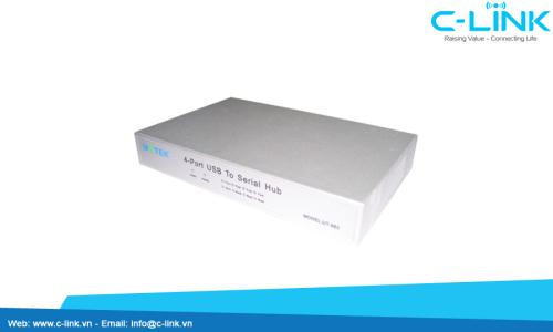 Bộ Chuyển Đổi USB Ra 4 Cổng RS232 UTEK (UT-865) C-LINK Phân Phối