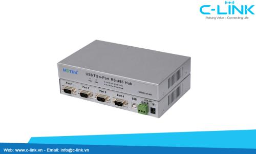 Bộ Chuyển Đổi USB Ra 4 Cổng RS-485/422 UTEK (UT-861) C-LINK Phân Phối