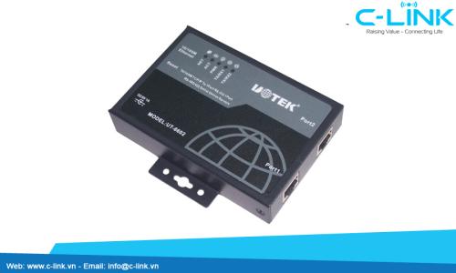 Bộ Server Chuyển Đổi 2 Cổng RS232/422/485 Sang Ethernet (server, DTE server) UTEK (UT-6602) C-LINK Phân Phối