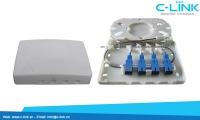 Hộp phối quang FTTH OTB 4 core C-LINK Phân Phối