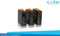 Switch 5 portSwitch công nghiệp 5 cổng Unmanaged Din-Rail Switch C-LINK Phân Phối