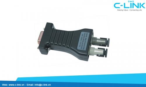 Bộ chuyển đổi Mini RS-232 sang quang UT-2077 C-LINK Phân Phối