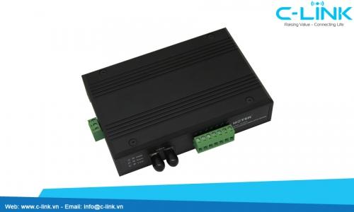 Bộ chuyển đổi RS-232/485/422 sang quang UTEK (UT-2278) C-LINK Phân Phối