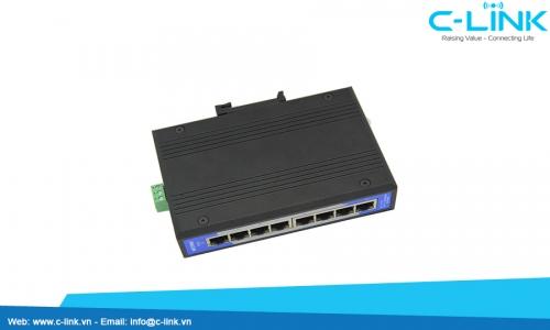 Switch công nghiệp Unmanaged 8 cổng 10/100M UT-6408 C-LINK Phân Phối