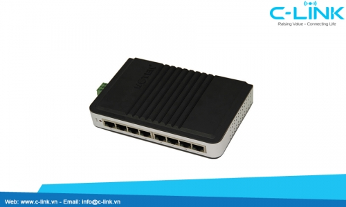 Switch công nghiệp Unmanaged 8 cổng 10/100M UT-6508 C-LINK Phân Phối