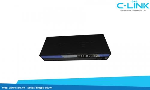 Switch công nghiệp Unmanaged 16 cổng 10/100M UT-6516 C-LINK Phân phối