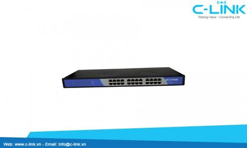 Switch công nghiệp Unmanaged 24 cổng 10/100M UT-6524  C-LINK Phân Phối