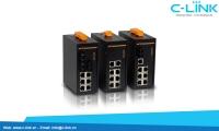 Switch công nghiệp 9 cổng Unmanaged Din-Rail Switch C-LINK Phân Phối