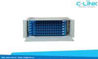 Giá phối quang ODF Rack Module 19 inch 72 core C-LINK Phân Phối
