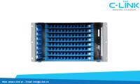 Giá phối quang ODF Rack Module 19 inch 96 core C-LINK Phân Phốii