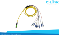 8 Cores MPO to LC Fiber Optic Assembly Cable