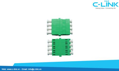 LC-APC-Singlemode-4-Cores-Fiber-Optic-Adapter