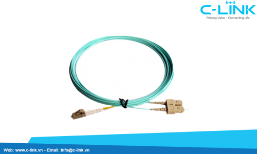 LC-SC Duplex Multimode Optical Patch Cord