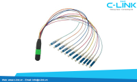 MTP-LC Fanout Fiber Optic Assembly Cable