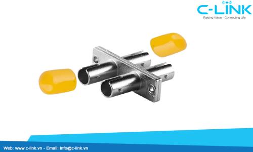 ST Duplex Fiber Optic Adapter