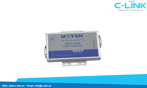 Bộ Chuyển Đổi RS-232 To RS-485/RS-422 Công Nghiệp, Cách ly Quang Điện, Nguồn Ngoài UTEK (UT-218) C-LINK Phân Phối